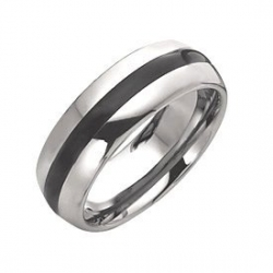 Dura Tungsten Enameled 8mm Polished Wedding Band