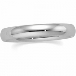 14k White Gold 4mm Comfort Fit Wedding Band