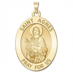 Saint Agnes Oval Medal    EXCLUSIVE