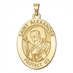 Saint Alexander of Constantinople Oval Religious Medal  EXCLUSIVE