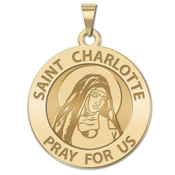 Saint Charlotte Religious Medal    EXCLUSIVE