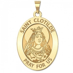 Saint Clotilde OVAL Medal   EXCLUSIVE