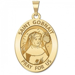 Saint Gobnait Oval Religious Medal   EXCLUSIVE