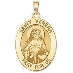 Saint Verena   Oval Religious Medal  EXCLUSIVE
