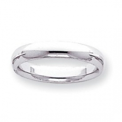 14k White Gold 4mm Comfort Fit Light Weight Wedding Band