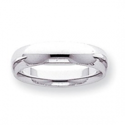 14k White Gold 5mm Comfort Fit Light Weight Wedding Band