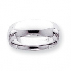 14k White Gold 7mm Comfort Fit Light Weight Wedding Band