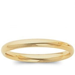14k Yellow Gold 3mm Comfort Fit Light Weight Wedding Band