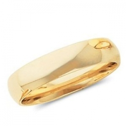 14k Yellow Gold 4mm Comfort Fit Light Weight Wedding Band