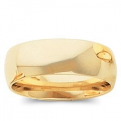 14k Yellow Gold 6mm Comfort Fit Light Weight Wedding Band