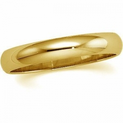 10k Yellow Gold 5mm Half Round Wedding Band