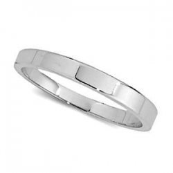 14k White Gold 2mm Flat Wedding Band