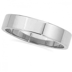 14k White Gold 3mm Flat Wedding Band
