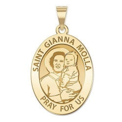 Saint Gianna Beretta Molla Oval Medal   EXCLUSIVE