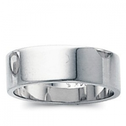 14k White Gold 5mm Flat Wedding Band