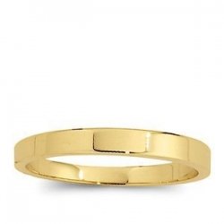 14k Yellow Gold 2mm Flat Wedding Band