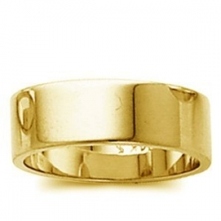 14k Yellow Gold 6mm Flat Wedding Band