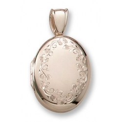 18k Premium Weight Yellow Gold Oval Locket