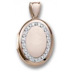 18k Premium Weight Yellow Gold Diamond Oval Locket