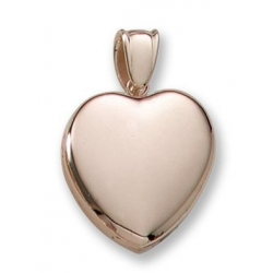 18k Premium Weight Yellow Gold Heart Picture Locket