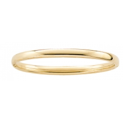 14k Gold Filled Teen s Plain Bangle Bracelet