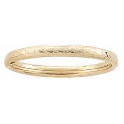 14k Gold Filled Infant s 4 5 Inch Bangle Bracelet with Heart s