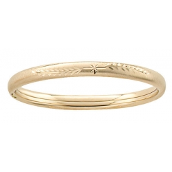 14k Gold Filled 5 1 4 Inch Children s Bangle Bracelet with Diamond Cut