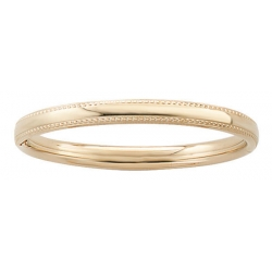 14k Gold Filled 5 1 4 Inch Children s  Milgrain  Bangle Bracelet