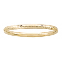 14k Gold Filled 5 3 4 In Kid s  Dia  Cut   Milgrain  Bangle Bracelet