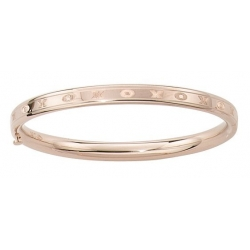 14KT Yellow Gold Infant s  Hugs   Kisses  Bangle Bracelet