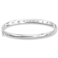 14KT White Gold Infant s  Alphabet  Bangle Bracelet