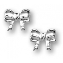 Sterling Silver Children s  Bow  Post Earrings
