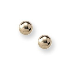 14K Yellow Gold Children s Stud Safety Back Earrings