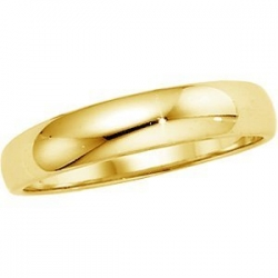 14k Yellow Gold 4mm Half Round Tapered Series Wedding Band