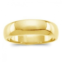 14k Yellow Gold 5mm Half Round Tapered Series Wedding Band