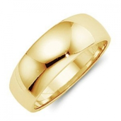 14k Yellow Gold 8mm Half Round Tapered Series Wedding Band