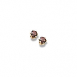14K Yellow Gold Child s Genuine  Garnet Birthstone Stud Earrings