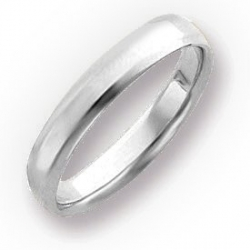14k White Gold 4mm Beveled Edge Wedding Band