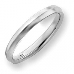14k White Gold 3mm Knife Edge Wedding Band