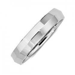 14k White Gold 4mm Knife Edge Wedding Band