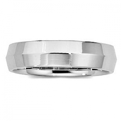 14k White Gold 5mm Knife Edge Wedding Band