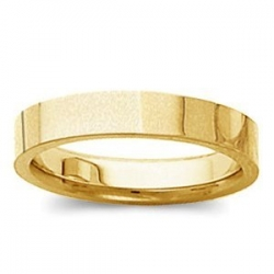 14k Yellow Gold 3mm Tapered Satin Finish Wedding Band