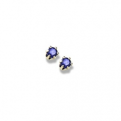 14K Yellow Gold Child s Genuine Sapphire Birthstone Stud Earrings
