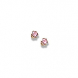 14K Yellow Gold Child s Genuine Tourmaline Birthstone Stud Earrings