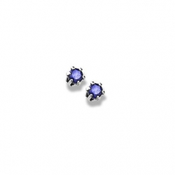 14K  White Gold Child s Genuine Sapphire Birthstone Stud Earrings