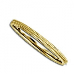 14k Yellow Gold 2mm Milgrain Wedding Band