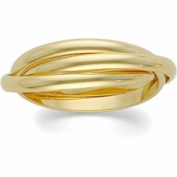 14k Yellow Gold Polished Rolling Ring Wedding Band