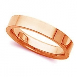 14k Rose Gold 3mm Tapered Polished Wedding Band