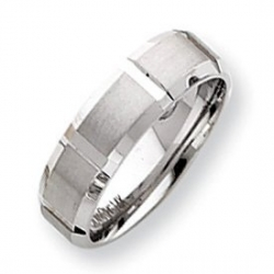 14k White Gold 7 75mm Fancy Wedding Band