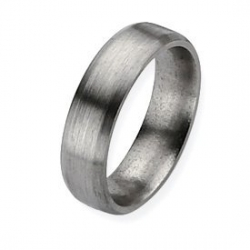 Titanium 6mm Brushed Top Bevel Wedding Band